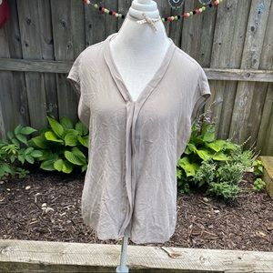 Max Studio silk sleeveless button up blouse sz XL